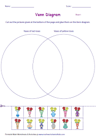 cut and glue activities on venn diagram two sets statistics