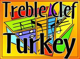 treble clef turkey thanksgiving bulletin board for class