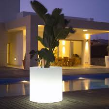 unique inspiration modern outdoor lighting flower pots for home