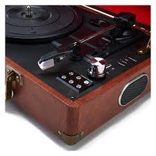 gpo retro attache briefcase style three speed portable vinyl