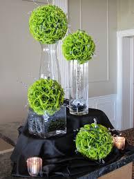green table decorations elegant christmas centerpieces wedding