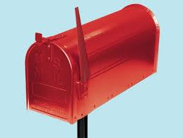 cassetta della posta americana cassetta postale americana rossa con palo di supporto cassette