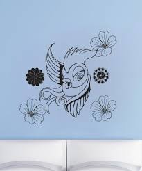 nature wall decals nature stickers for walls stickerbrand vinyl wall decal sticker feminine bird 1071