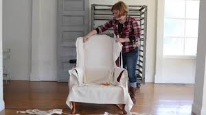 how to slipcover a chair how to a slipcover part 4 wings arms seat apron