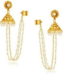 earrings image flipkart buy sukkhi creative alloy jhumki earring online at