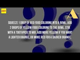 how do you make the color orange with food coloring youtube