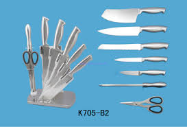 swiss kitchen knives high quality stainless steel kitchen knife set with acrylic block