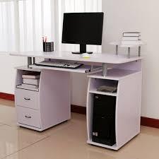 Desktop Cabinet Online Homcom Computer Table Desk Pc Desktop Drawer Home Office Furniture