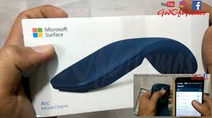 surface arc mouse light grey microsoft surface arc wireless mouse unboxing review how to connect