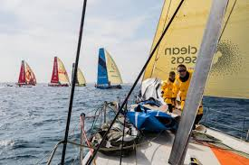 lucas chapman blog life on a volvo boat in leg one mysailing com au
