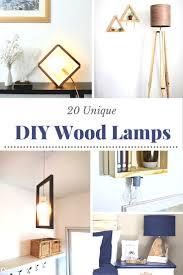 20 unique diy wood lamps diycandy com