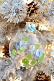 diy clear ornament button and washi fox hollow