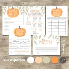 pumpkin baby shower games package baby shower games printable