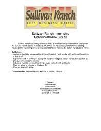 sullivan ranch u2013 internship opportunity the pulse