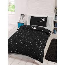 Duvet Cover Stars Glow In The Dark Single Duvet Set Black Bedding Duvet Sets