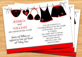 couples bridal shower bridal shower invitation black and hearts