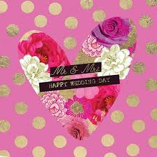 happy wedding day dotty heart mr and mrs wedding day card karenza paperie