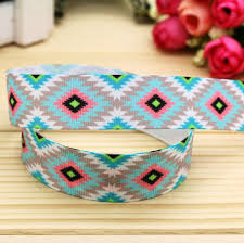 aztec ribbon 7 8 free shipping aztec tribal printed grosgrain ribbon hairbow