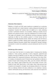 research proposal phd application JFC CZ as