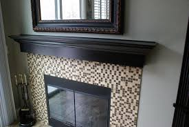 fireplace mantel over tile fireplace in summerlin