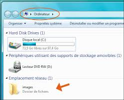 mettre favori sur bureau emplacements et favoris réseau de windows 7 et vista