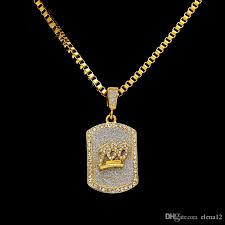 white necklace men images Wholesale male jesus tag necklaces men jewelry full rhinestone jpg