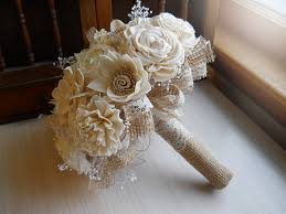 Shabby Chic Bridal Bouquet by Ships In 2 Weeks Rustic Shabby Chic Bouquet Sola Flowers