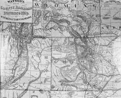 Union Pacific Railroad Map Gliffen Cavalryman Steakhouse