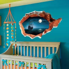 compare prices on cool house decorations online shopping buy low cool sea wall sticker sunset boating bedroom poster house door quarto mural wall decals home decor