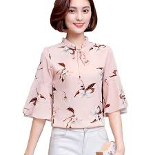 wedding tops fashion summer women s chiffon floral blouses for party wedding