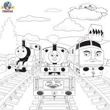 thomas train drawing colouring pages coloring