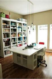 Jennifer Mcguire Craft Room - great sewing setup especially with the overhead lights and
