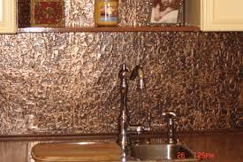 tin tile back splash copper backsplashes for kitchens decorating faux tin backsplash with kitchen shelf and butcher block