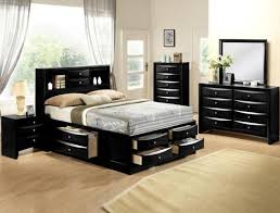 bedroom all black bedroom furniture size bed set black black