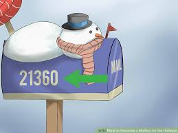 how to decorate a mailbox for the holidays 10 steps