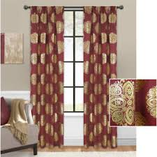 Gold Metallic Curtains Contemporary Burgundy Gold Metallic Crest Curtains Drapes Panels