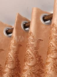 Apricot Color Fashion Deep Apricot Color Jacquard Polyester Chic Blackout