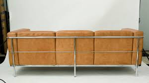 Furniture Jack Cartwright Furniture Home by Jack Cartwright Leather And Chrome Couch At 1stdibs