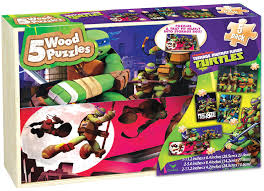 nickelodeon 5 pack wood puzzles teenage mutant ninja turtles