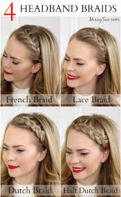plait headband four headband braids