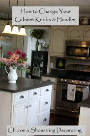 chagne bronze cabinet hardware chic on a shoestring decorating how to change your kitchen cabinet