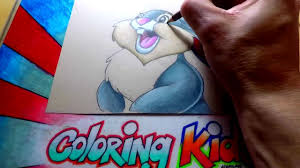 how to color disney bambi coloring pages for kids learn with
