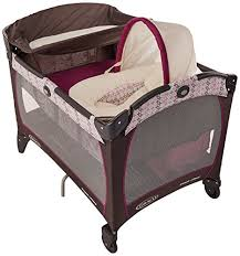Pink And Brown Graco Pack N Play With Changing Table Graco Pack N Play Playard With Newborn Napperstation Dlx Nyssa