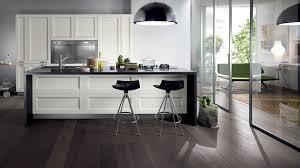 Shiny White Kitchen Cabinets Mesmerizing Kitchen Design With Minimalist White Wooden Kitchen
