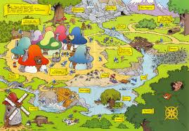 World Map Cartoon by Goonies Map Branded In The 80s