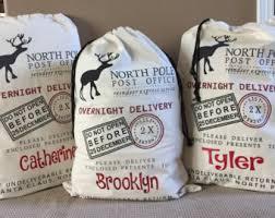 personalized santa sack personalized santa sack santa sacks christmas by maleydesigns