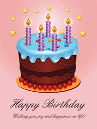 shining birthday cake card birthday greeting cards by davia