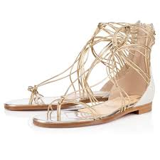 christian louboutin leather gladiator sandals