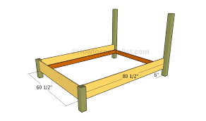 queen bed frame plans howtospecialist how to build step by