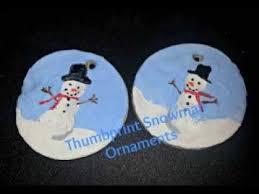 thumbprint snowman ornament crafts til day 9